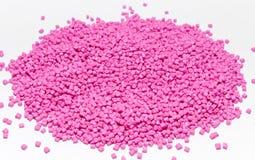 塑料的聚合物染料 在粒子的颜料 库存照片