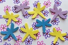 塑料的dragonflys 免版税库存照片