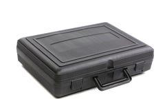 黑塑料盒。 免版税库存照片