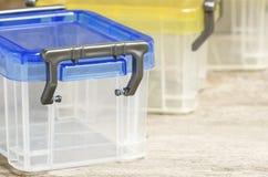 塑料盒 免版税库存照片