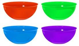 塑料碗 库存照片