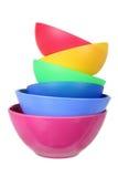 塑料碗 免版税图库摄影