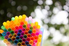 塑料秸杆 免版税图库摄影