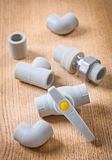 塑料管子附件 免版税库存照片