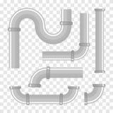 塑料管子 水管 管道传染媒介 库存例证