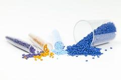 塑料粒子 免版税库存照片
