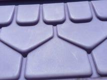 塑料紫色屋顶 库存图片