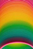 塑料苗条的玩具的彩虹颜色 免版税图库摄影