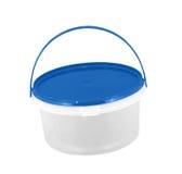 塑料蓝色桶 图库摄影