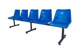 塑料蓝色的椅子 库存图片