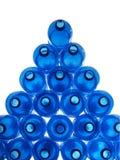 塑料蓝色的瓶 图库摄影