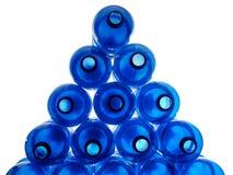 塑料蓝色的瓶 免版税库存图片