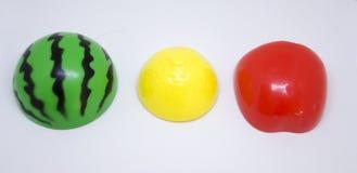 塑料蔬菜和水果 免版税图库摄影