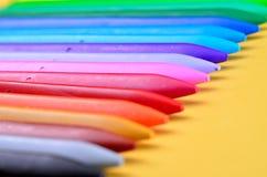 塑料蜡笔 库存图片