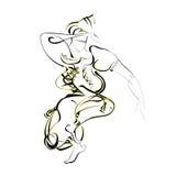 塑料跳舞东部 库存图片