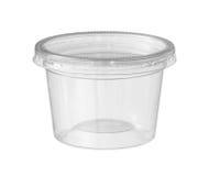 塑料食物杯子 免版税库存图片