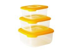 塑料食物配件箱 免版税库存照片