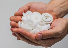 塑料齿轮 免版税库存图片