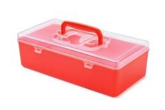 塑料组织者箱子 免版税图库摄影