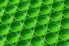 塑料绿色盖子 库存照片