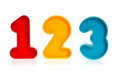 塑料123个的编号 库存图片