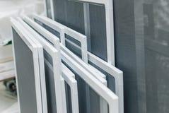 塑料PVC的Windows蚊帐 免版税库存照片