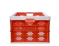 塑胶容器篮子被隔绝的白色背景 免版税库存照片