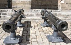 塑象金属大炮 军队的博物馆 免版税库存图片