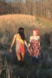 塑造二名妇女 免版税库存照片