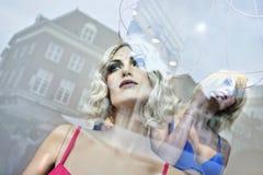 塑造商店窗口时装模特,登博斯,荷兰 库存图片