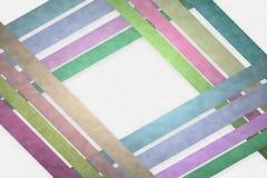 塑造在白色云彩样式的彩带背景 免版税库存照片