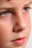 塑造年轻人的男孩headshot 免版税库存照片