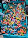 塑造玩具的捕鱼比赛 图库摄影