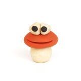 塑造蘑菇的黏土 库存照片