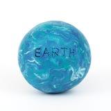塑造行星的黏土地球 免版税库存图片