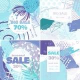 塑造销售和特价优待网上购物的概念卡片 库存图片