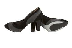 塑造鞋子绒面革的女性 免版税图库摄影