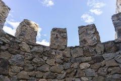 塔、孔苏埃格拉堡垒和城堡在托莱多,西班牙 mediev 库存图片