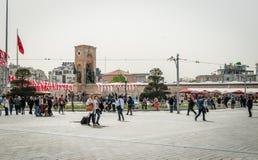 塔克西姆广场在伊斯坦布尔,土耳其 免版税库存照片