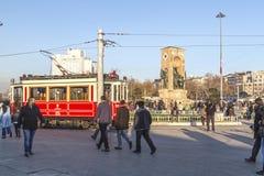 塔克西姆广场, Beyoglu,伊斯坦布尔 库存照片