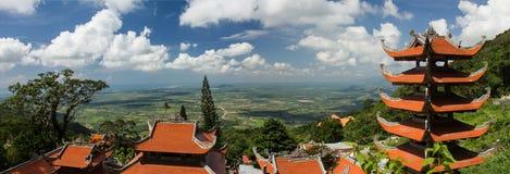 塔全景TaCu山的,越南, 库存照片