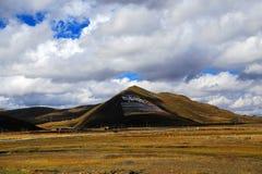 塔公乡寺庙,一个著名萨迦派藏传佛教寺庙 免版税库存图片