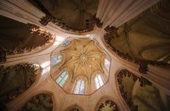 巴塔利亚修道院在葡萄牙 库存照片