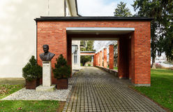 巴塔别墅在Zlin,捷克 免版税库存图片