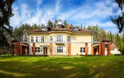 巴塔别墅在Zlin,捷克 库存图片