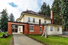 巴塔别墅在Zlin,捷克 图库摄影