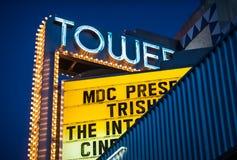 塔剧院在少许哈瓦那,迈阿密。 库存图片