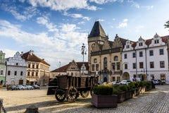 塔博尔是捷克共和国的一个小镇 库存图片