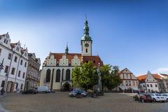 塔博尔是捷克共和国的一个小镇 库存照片