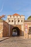 塔博尔门(1683) Vysehrad堡垒在布拉格 联合国科教文组织站点 库存照片
